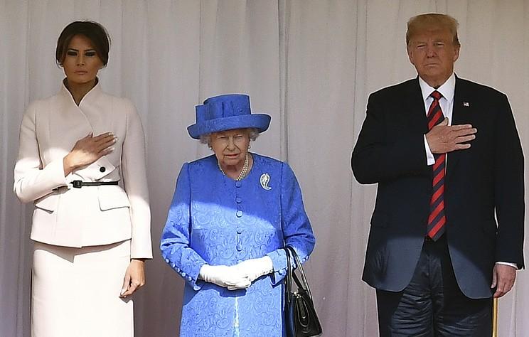 Трамп стал 12-м президентом США, встретившимся с королевой Елизаветой II