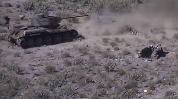 Хуситы использовали ПТУР против Т-34 в Йемене