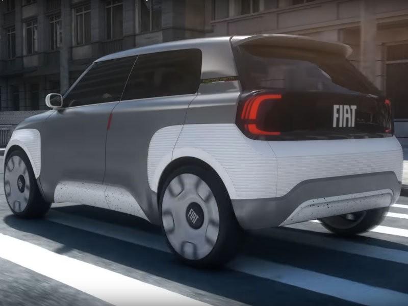 Компания Fiat показала в Женеве прототип модульного электрокара (ВИДЕО)