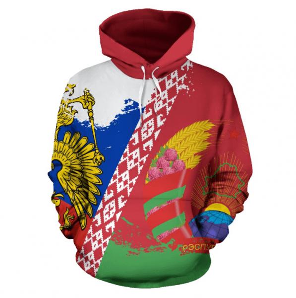 Одеяло сгоссимволикой, толстовка «Россия иБеларусь вместе». Что предлагает интернет-магазин изСША