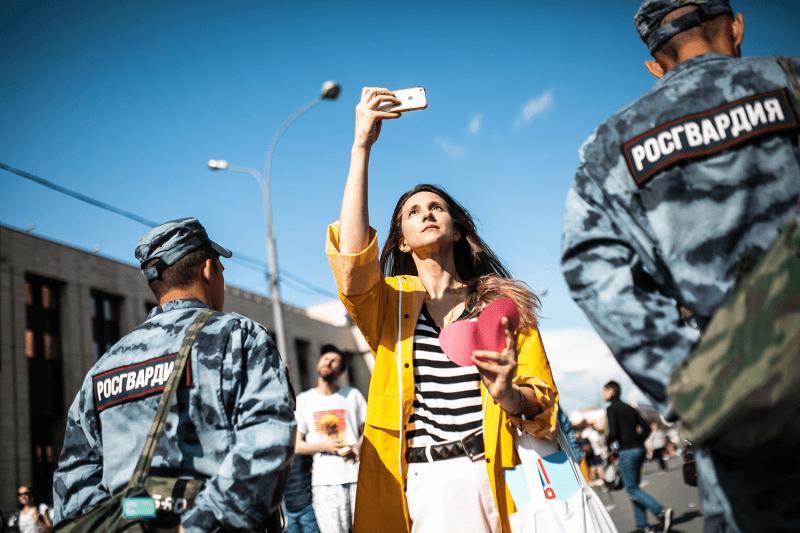 Посмотрите, как напроспекте Сахарова прошел митинг зачестные выборы вМосгордуму
