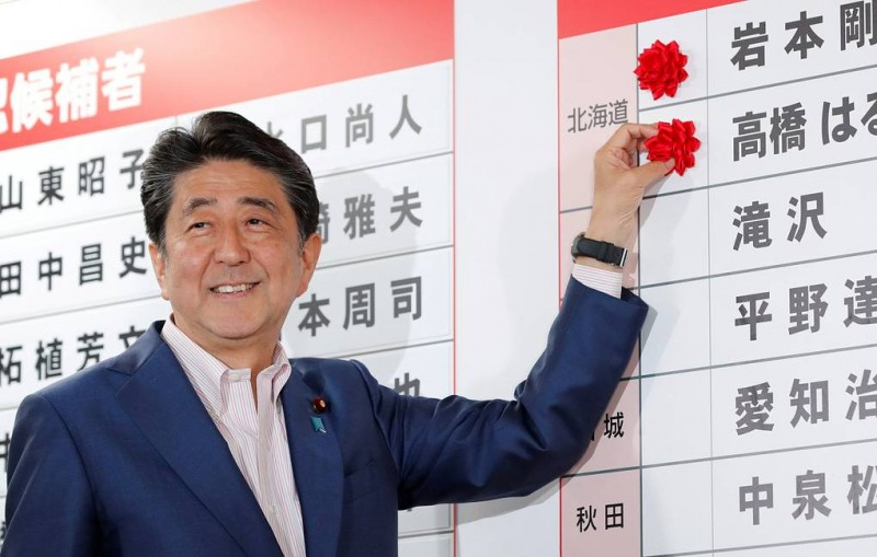 Премьер Японии заявил, что хочет заключить мирный договор с РФ до 2021 года