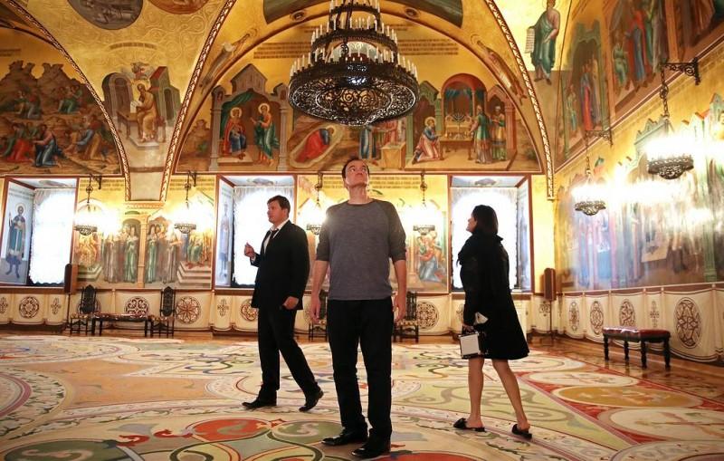 Квентин Тарантино побывал на экскурсии в Музеях Кремля
