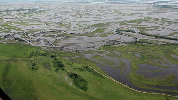Вода уходит из подтопленного Охотского района Хабаровского края