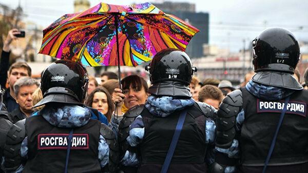 Несогласованная акция в центре Москвы сошла на нет