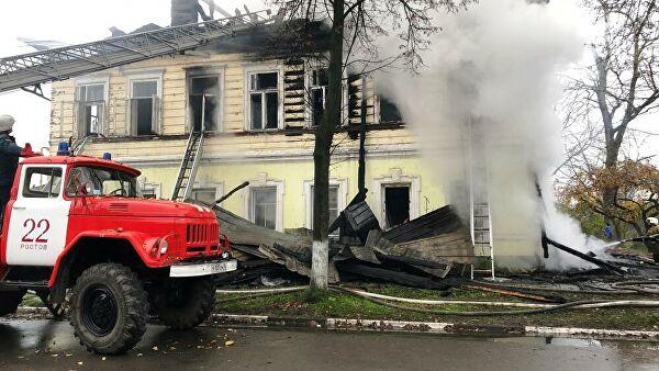 Двое пострадавших при пожаре в Ярославской области находятся в реанимации