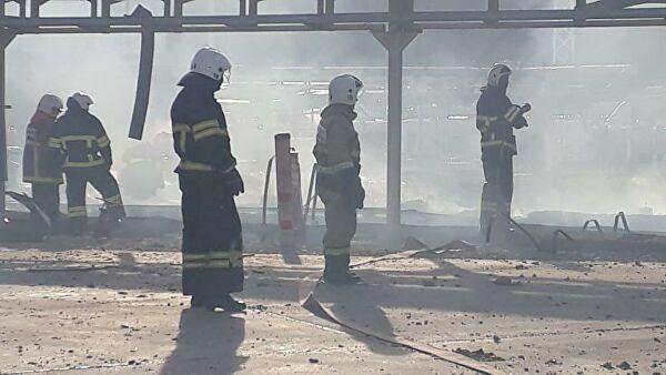 При пожаре на нефтебазе в Новороссийске пострадал гражданин Сербии