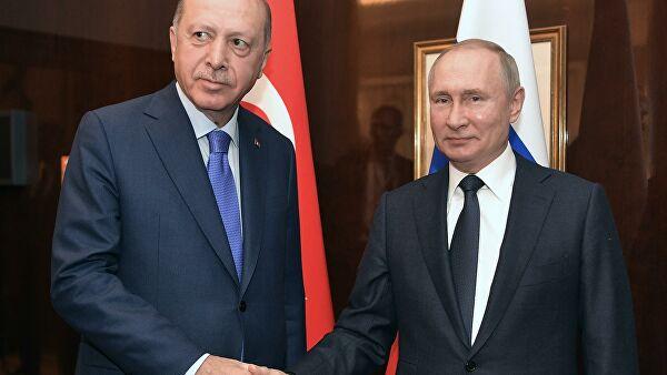 Глава МИД Турции анонсировал телефонный разговор Путина и Эрдогана