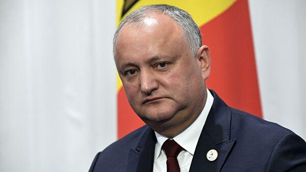 Додон прокомментировал протесты в Кишиневе